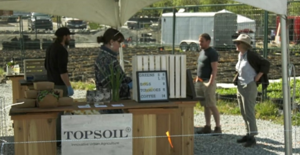 Topsoil farm stand
