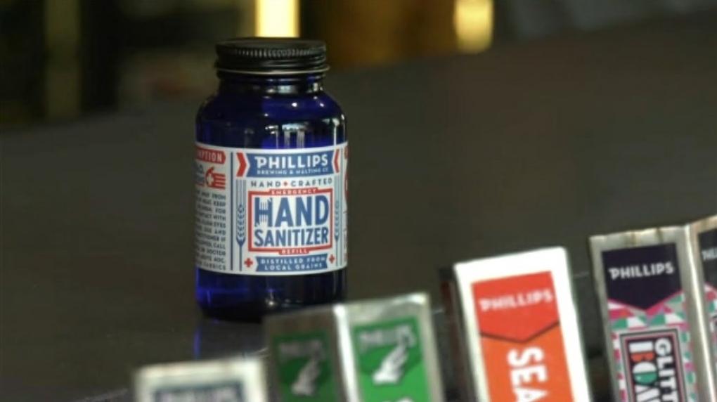 Phillips Brewing hand sanitizer