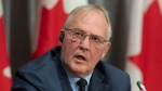 Public Safety and Emergency Preparedness Minister Bill Blair is seen during a news conference in Ottawa, Monday April 20, 2020. THE CANADIAN PRESS/Adrian Wyld
