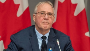 Public Safety and Emergency Preparedness Minister Bill Blair is seen during a news conference in Ottawa, Monday, April 20, 2020. THE CANADIAN PRESS/Adrian Wyld
