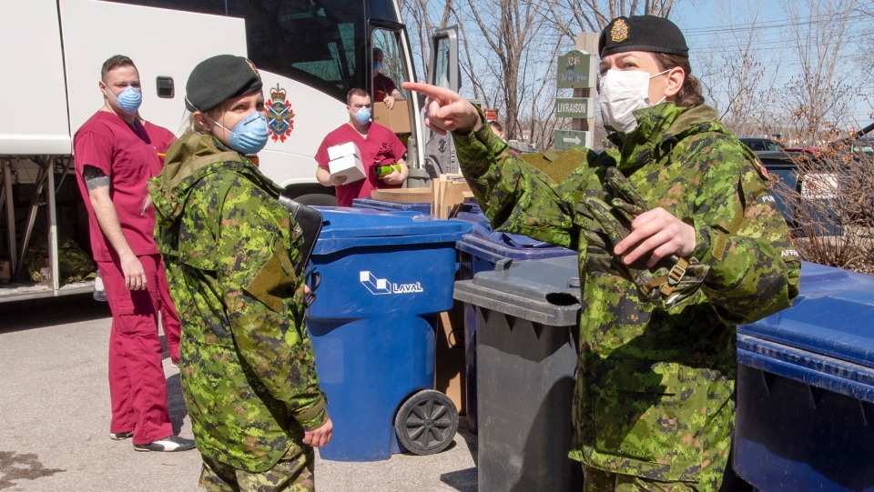 Armed Forces personnel arrive in Laval