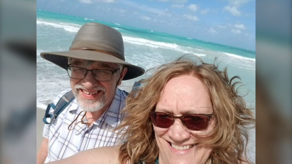 Supplied photo of Genevieve and Neil Funk-Unrau on a trip to Cuba.