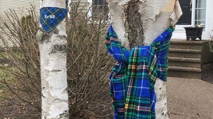 Nova Scotians and Canadians are taking to social media to display lit candles and tartan tributes in memory of the lives lost in this weekend's mass shooting.
