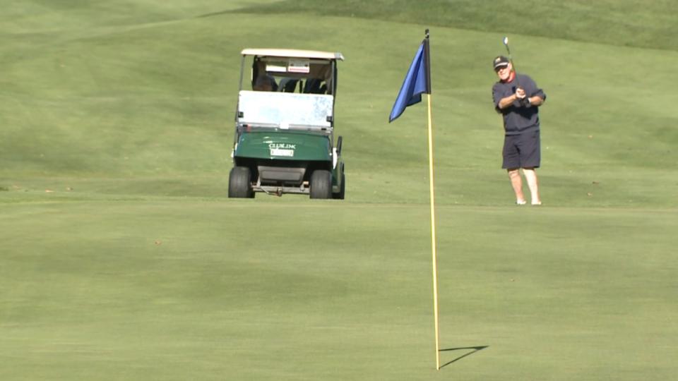 A man plays golf at an Ottawa golf course in 2019. (James Fish / CTV News Ottawa)