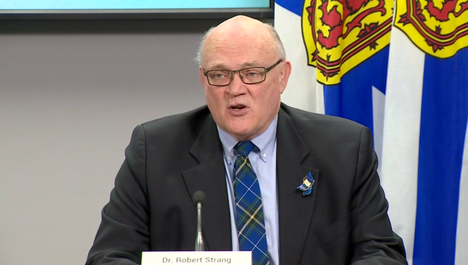 N.S. chief medical officer of health Dr. Robert Strang gives an update on COVID-19 in the province on April 21, 2020.
