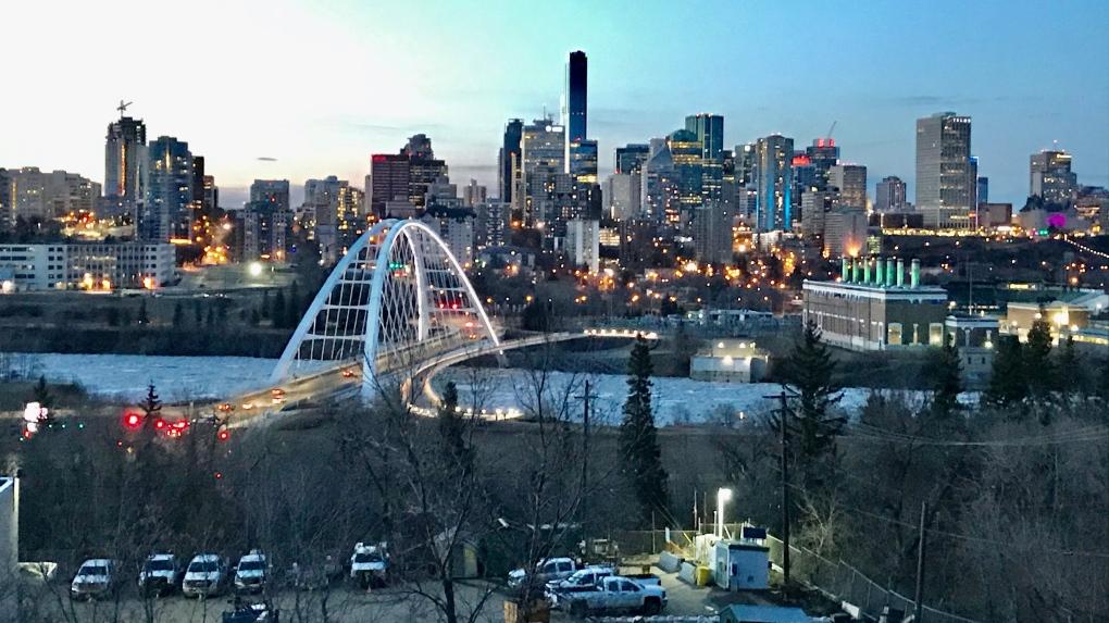 Downtown Edmonton, spring 2020