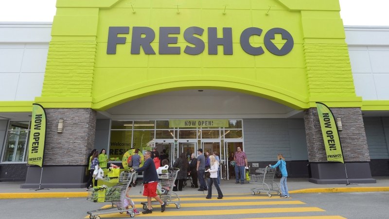 People enter a FreshCo store in Mission, B.C. on Thursday, April 25, 2019. (THE CANADIAN PRESS/Jonathan Hayward)