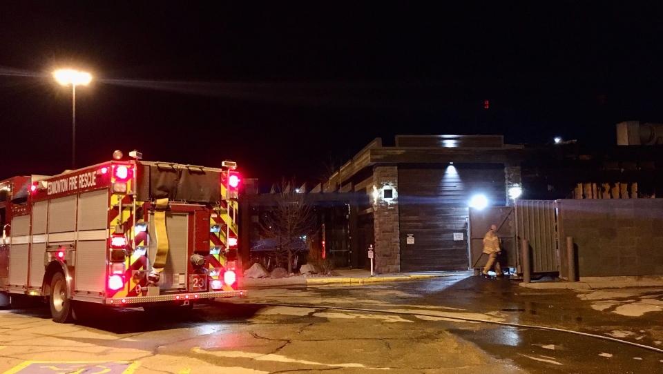 Fire crews at Moxie's fire