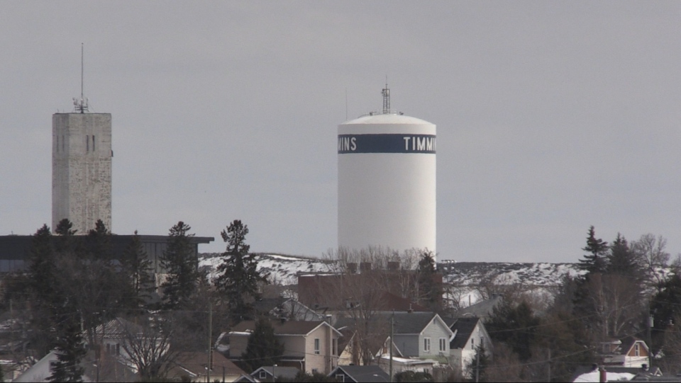 Timmins watertower