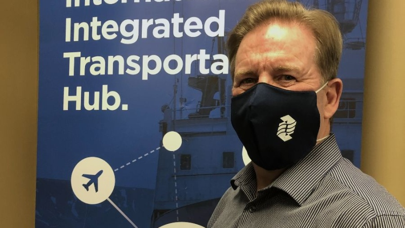 The Windsor Port Authority has issued face masks to all 846 port workers. (Courtesy Windsor Port Authority)