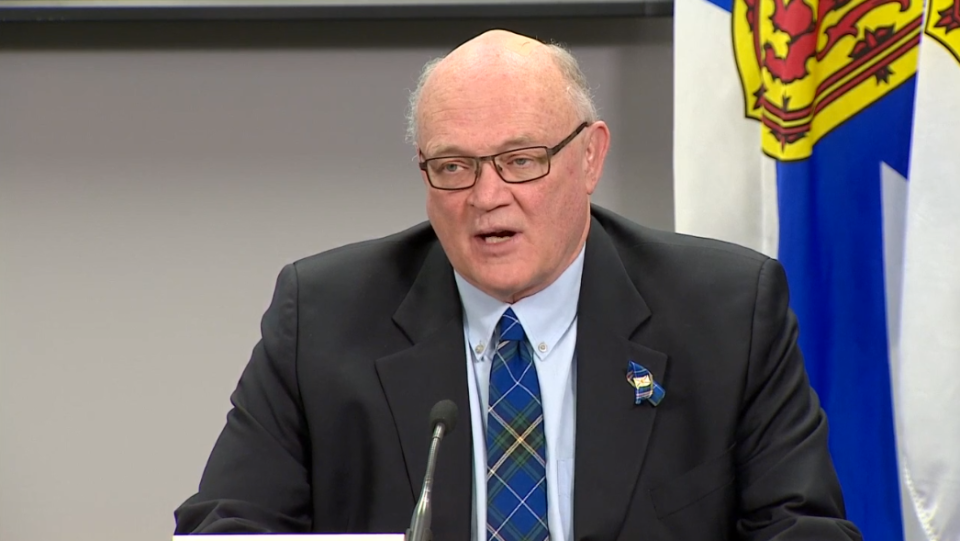 N.S. chief medical officer of health Dr. Robert Strang gives an update on COVID-19 in the province on April 22, 2020.