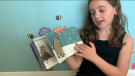 Lyla reading a story called 'When' for the Stay in Touch website.