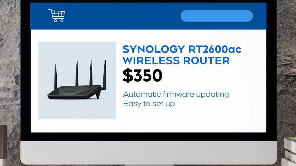 The RT2600ac wireless router from Synology.
