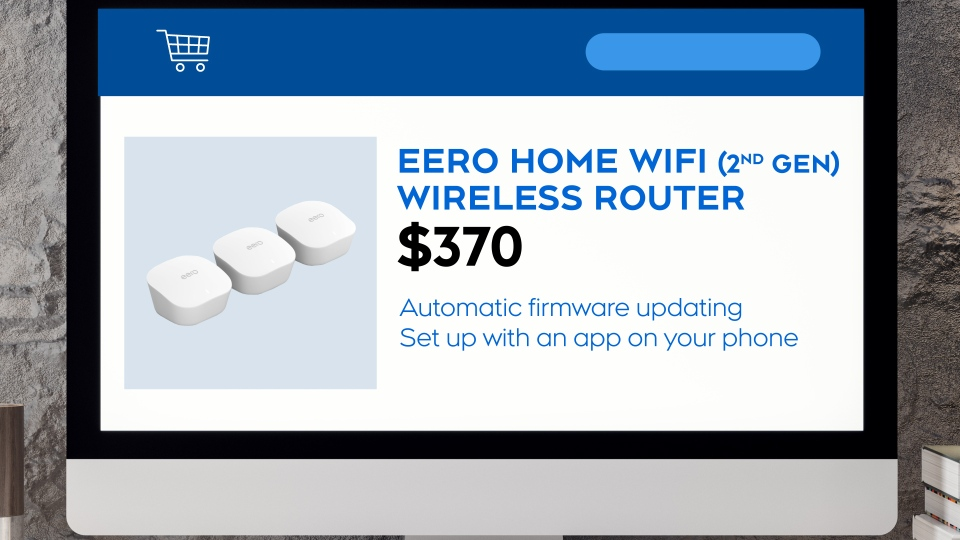 The eero Home Wi-Fi router.