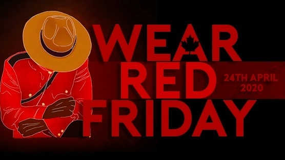 The National Police Federation is asking Canadians to wear red on Friday to mourn Nova Scotia victims.
