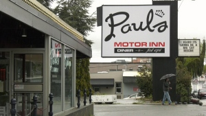 Paul's Motor Inn, located in downtown Victoria, has been bought by the B.C. government to use as a temporary homeless shelter: (CTV News)