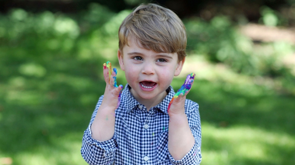Prince Louis in a photo taken by his mother