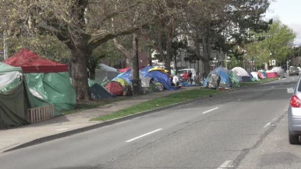 Pandora homeless tents