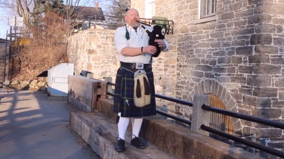 Andrew Smith, from Manotick, Ont., put on his kilt and broke out his pipes for the first time in eight years to pay tribute to the victims of the mass killing in Nova Scotia.