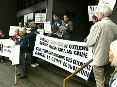 Anti fraud protest.