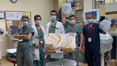 Doctors receiving Operation Rainbow donations