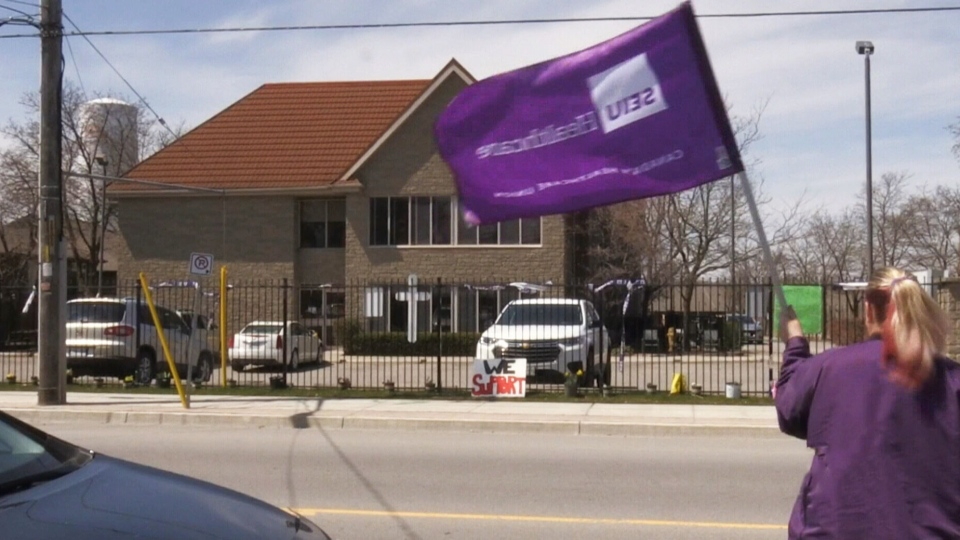 Showing support for LTC home workers