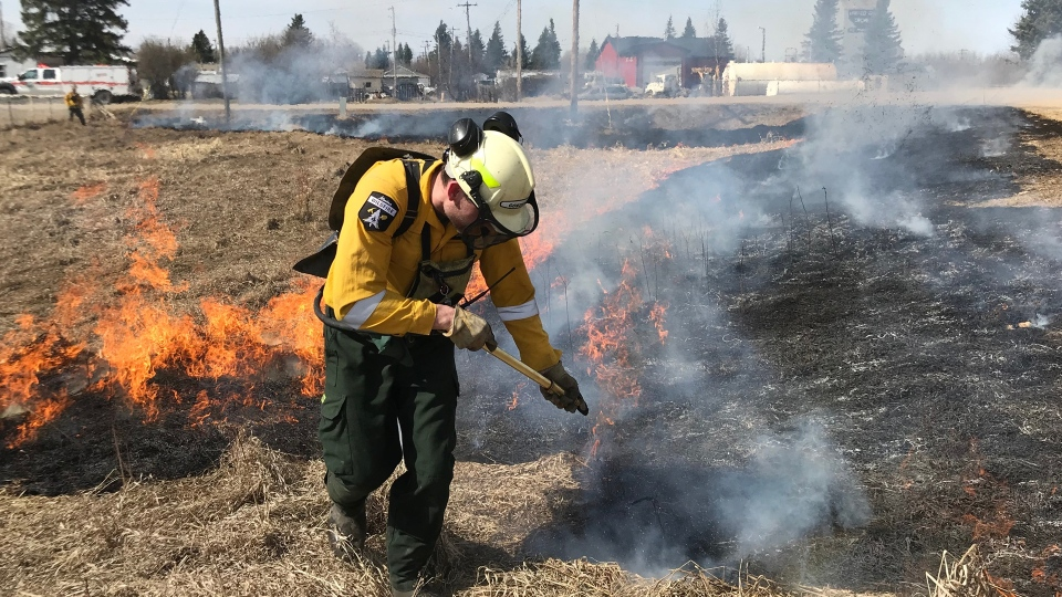 Firefighters perform a controlled burn in Alberta. (Source: Government of Alberta)