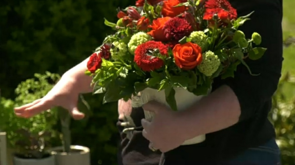 Colleen O'Farrell's flower business wilted because of COVID-19, but the Saanich resident says it's a district bylaw that's preventing the business from blooming again. (CTV)