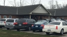 The Church of God in Aylmer Ont. holds a service on Sunday, April 26, 2020 in defiance of provincial physical distancing guidelines. (Brent Lale/CTV London)