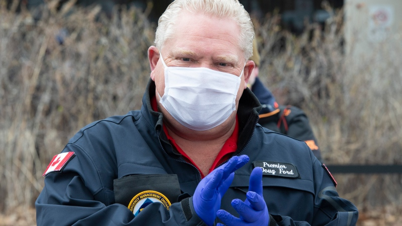 Premier Ford announces pandemic pay premium for frontline workers