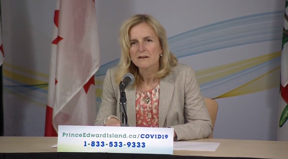 P.E.I.'s Chief Public Health Officer Dr. Heather Morrison gives an update on COVID-19 on April 27, 2020.