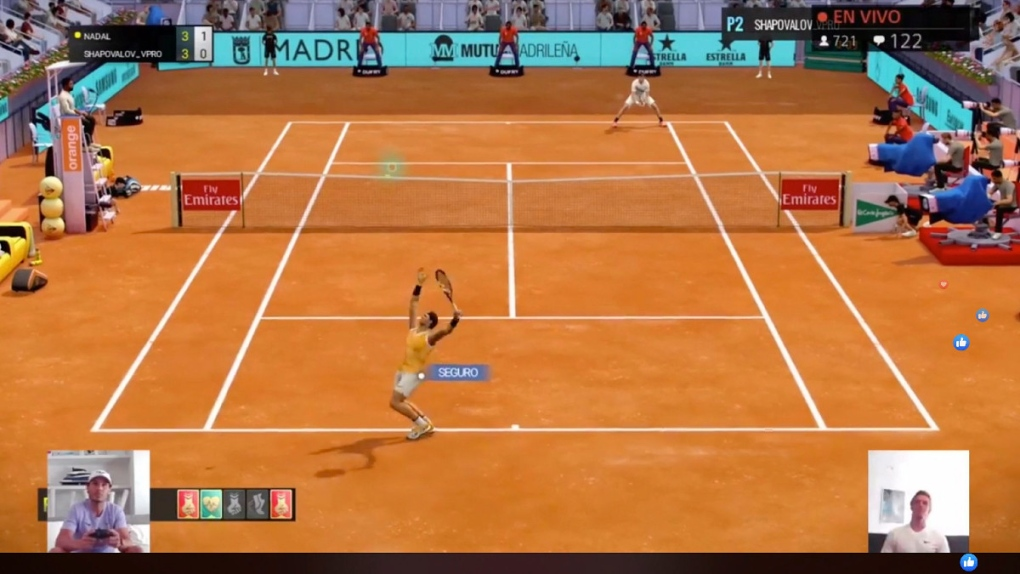 Fake Injury Glitches As Madrid Open Tennis Presents Covid Gaming Ctv News