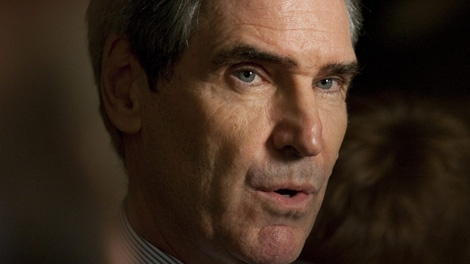 Liberal Leader Michael Ignatieff speaks to members of the media following question period on Parliament Hill in Ottawa on Monday Sept. 28, 2009. (Pawel Dwulit / THE CANADIAN PRESS)