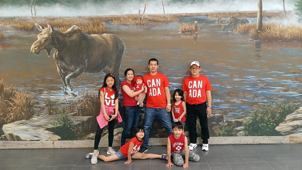 Arwyn and Mercy Sallegue family