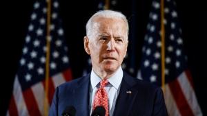 In this March 12, 2020, file photo Democratic presidential candidate former Vice President Joe Biden speaks about the coronavirus in Wilmington, Del. (AP Photo/Matt Rourke, File)