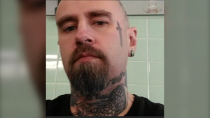 Telford Randall Howe was named a person of interest in a Grande Prairie man's suspicious death on April 28. He was previously wanted for charges stemming from an April 16 incident in Whitecourt. (Photo provided.)