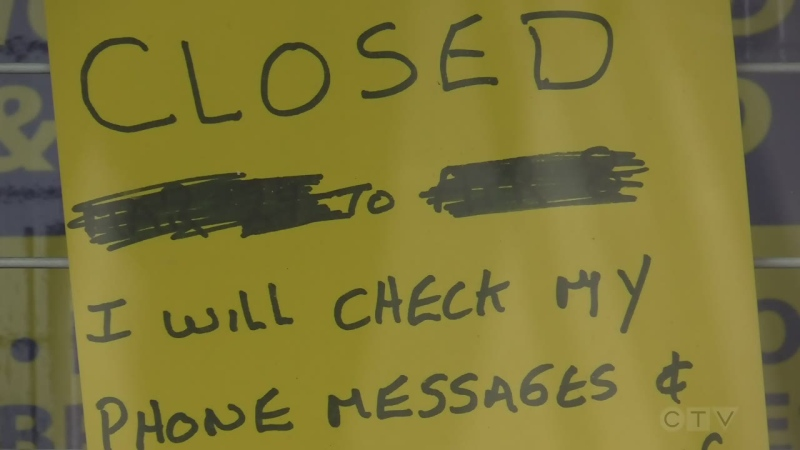 Businesses closed due to COVID-19