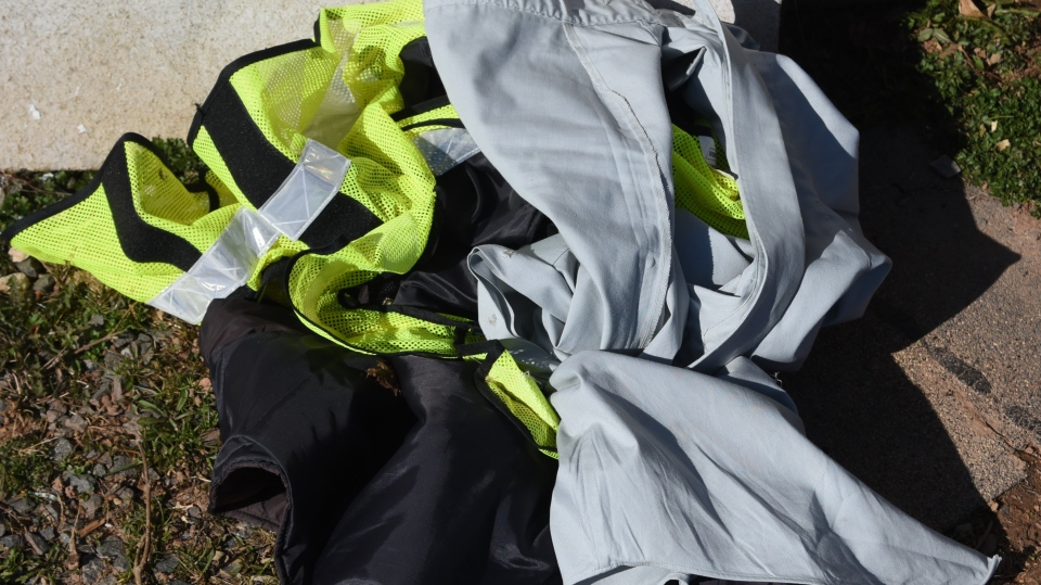 The shooter's discarded police uniform is seen in this image. (N.S. RCMP)