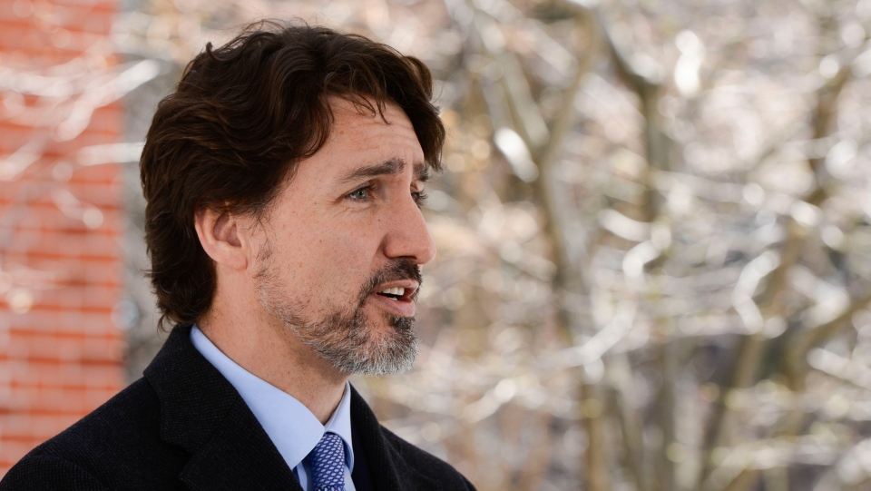 Prime Minister Justin Trudeau addresses Canadians on the COVID-19 pandemic from Rideau Cottage in Ottawa on Tuesday, April 28, 2020. THE CANADIAN PRESS/Sean Kilpatrick