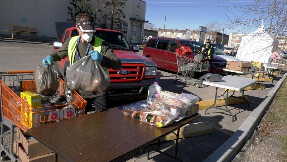 Calgary Food Bank, COVID-19, donations, hampers