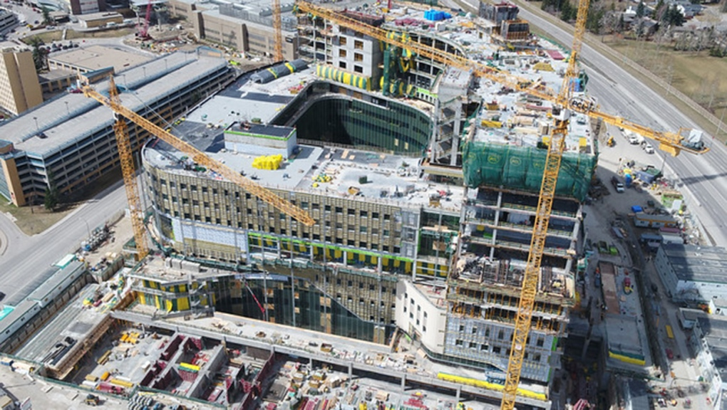 Calgary Cancer Centre, construction, concrete