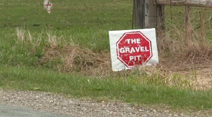 gravel pit protest
