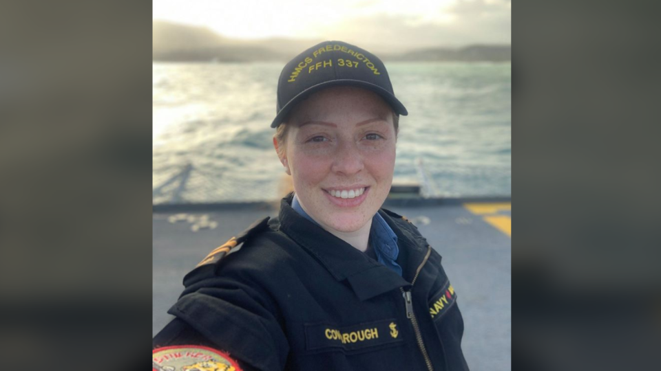 Abbigail Cowbrough was on board the CH-148 Cyclone when it disappeared over the Ionian Sea off the coast of Greece. (Regal Heights Baptist Church / Facebook)