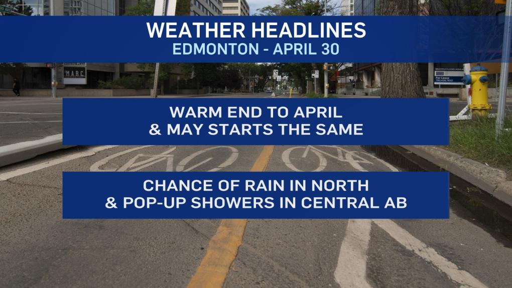 April 30 weather headlines