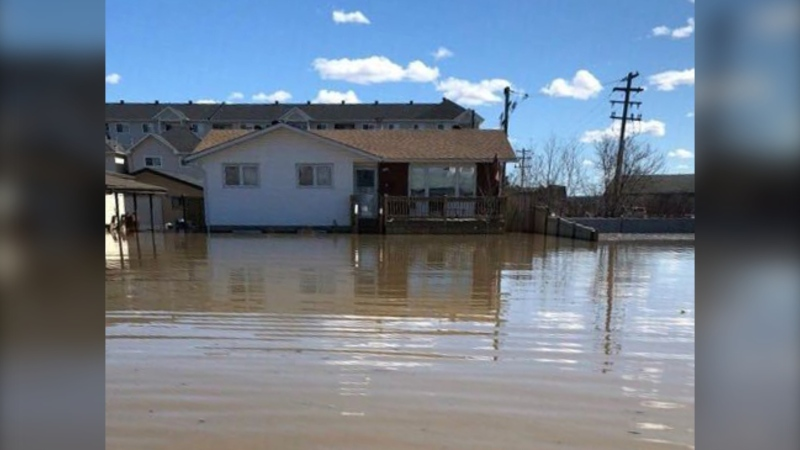 Moe's flooded home in Fort McMurray, pictured April 28, 2020. (Photo provided)