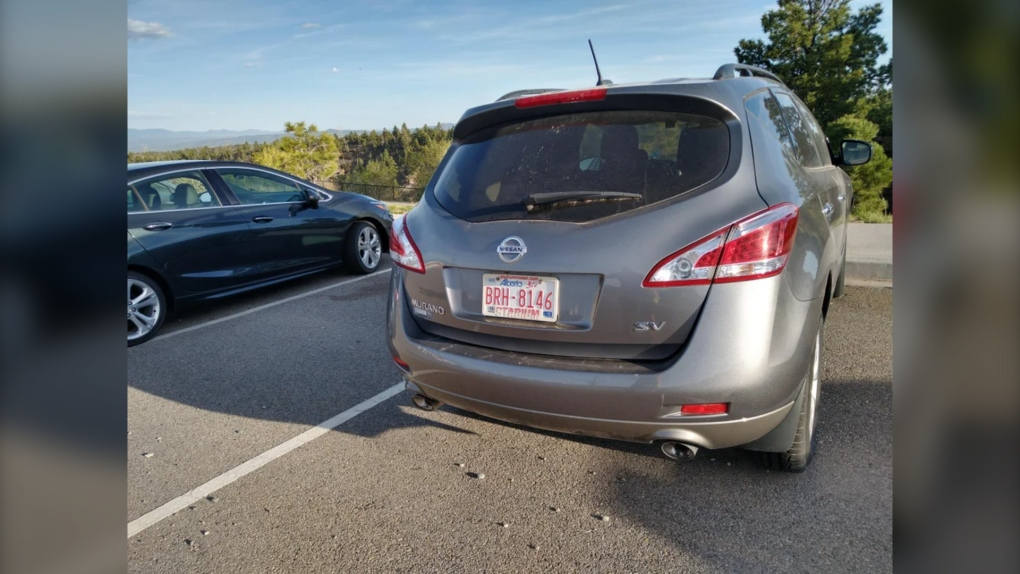 New Mexico abandoned car