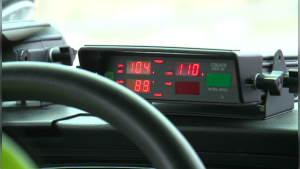 A speed measuring device in an Ottawa Police cruiser. (file photo)