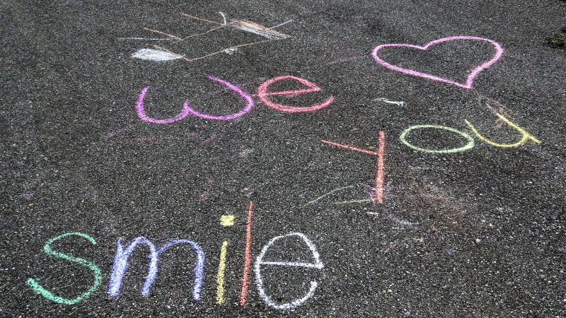 Elizabeth D'Angelo's daughter-in-law and grandchildren left this message in her driveway on the weekend!  