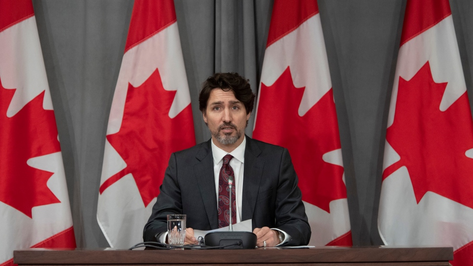 Prime Minister Justin Trudeau announces a ban on military style assault weapons during a news conference in Ottawa, Friday May 1, 2020. THE CANADIAN PRESS/Adrian Wyld