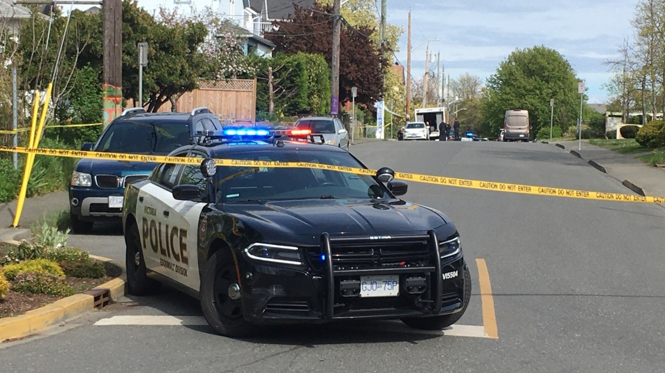 A BC RCMP Lower Mainland EOD unit helped conduct controlled detonations on a suspicious package in Victoria Thursday: April 30, 2020 (CTV News)